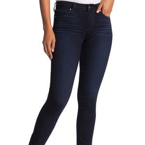 Paige Verdugo Ankle Skinny Jeans Dark Wash Denim